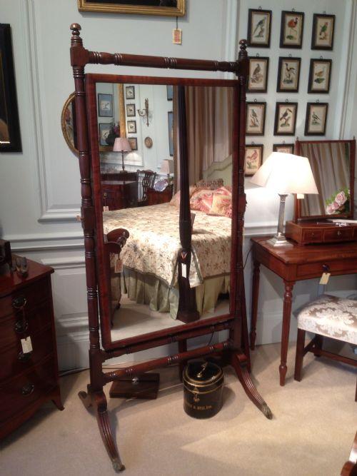good quality large 18th century george iii mahogany cheval mirror