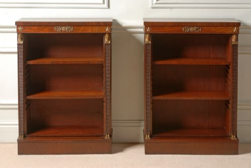 good pair of empire mahogany bookcases
