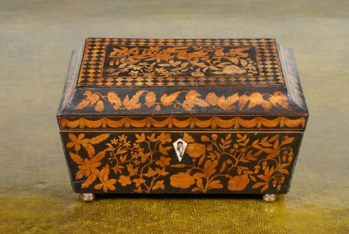 regency penwork box c1800