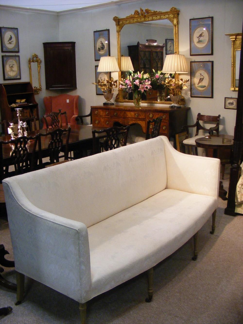 genuine george iii hepplewhite settee sofa