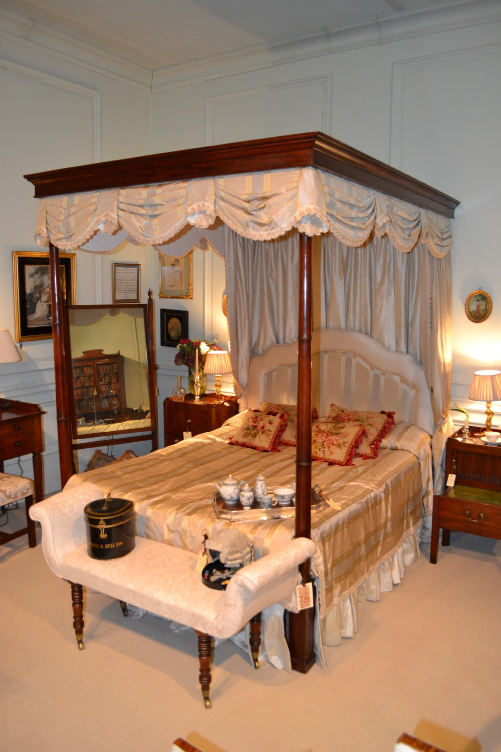 fine regency mahogany four poster bed