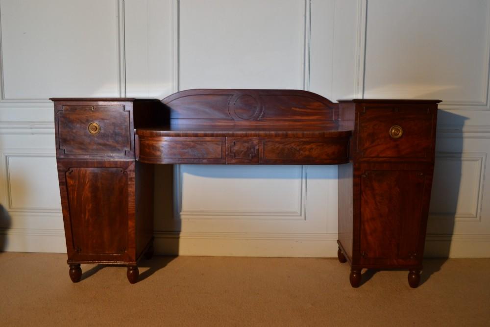 a very smart regency mahogany sideboard