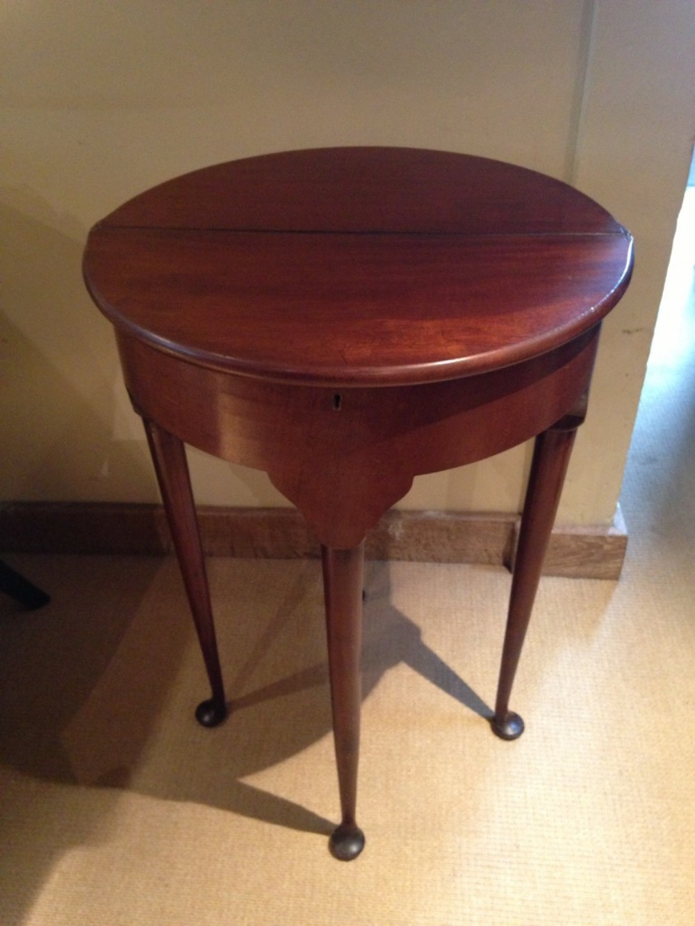 small george 1st style demi lune tea table