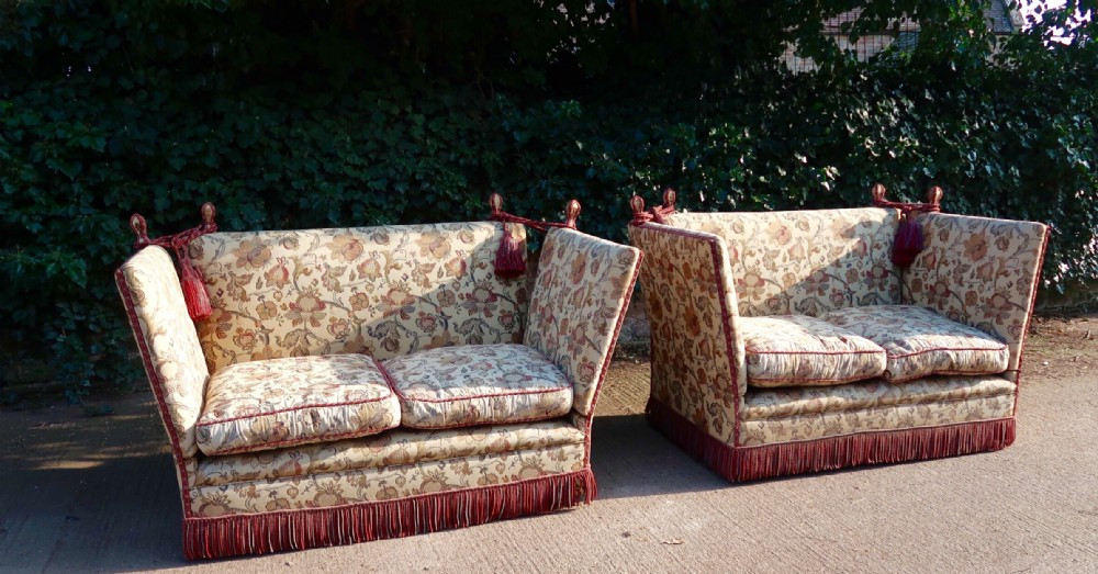 superb pair of very comfortable knoll sofas