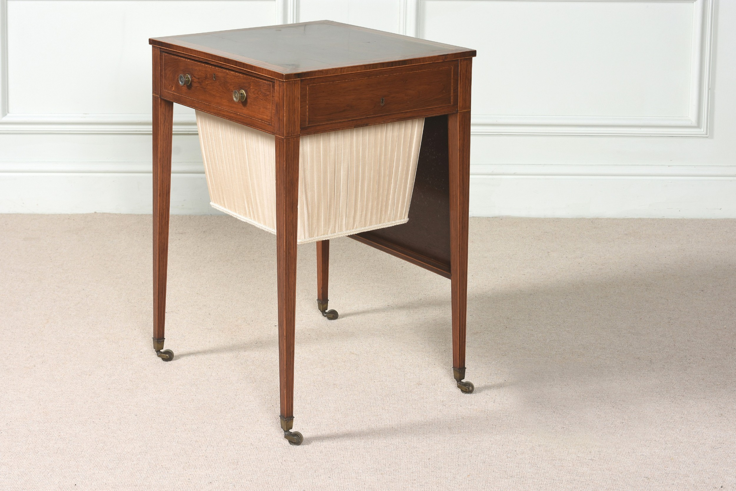 18th century sheraton rosewood sewing table in excellent condition c1785