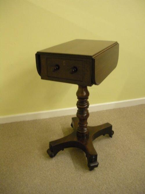 19th century mahogany work table