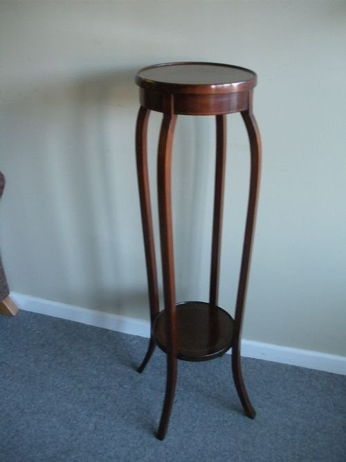 Antique Edwardian Mahogany Plant Stand Other Antique Furniture