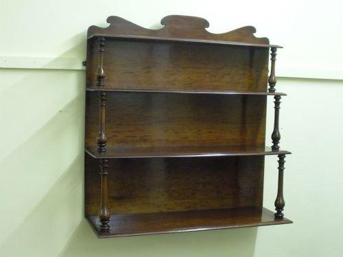 Mahogany Wall Mounted Bookcase Display Shelves 83016