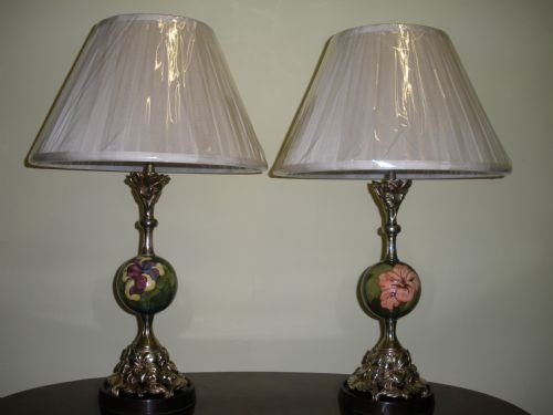 Pair of moorcroft electric table lamps 85544 sellingantiques pair of moorcroft electric table lamps aloadofball Images
