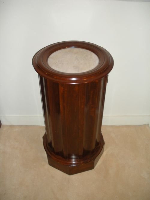 victorian mahogany marble top pot cupboard