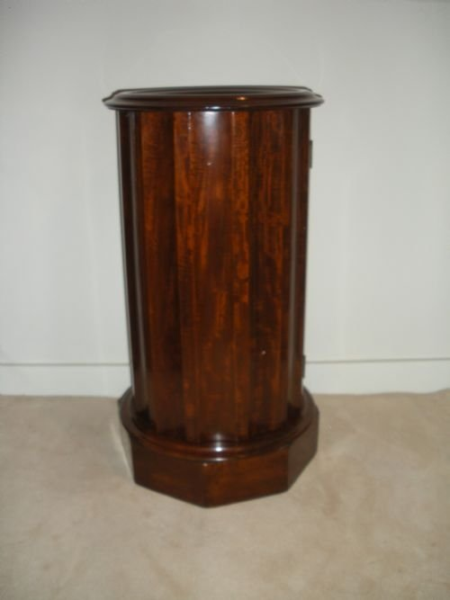 victorian mahogany marble top pot cupboard - photo angle #2