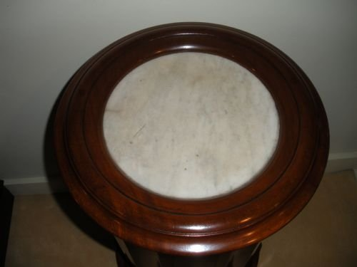 victorian mahogany marble top pot cupboard - photo angle #4
