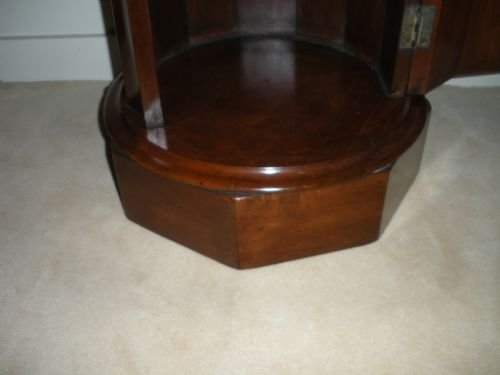 victorian mahogany marble top pot cupboard - photo angle #5