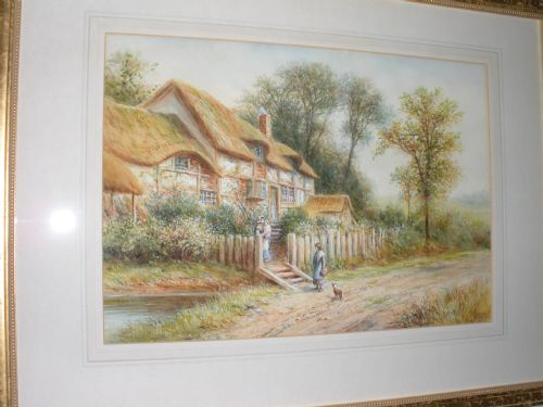 19th century watercolour signed by j a morris