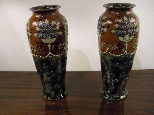 Royal Doulton Stoneware Vases 221970 Sellingantiques