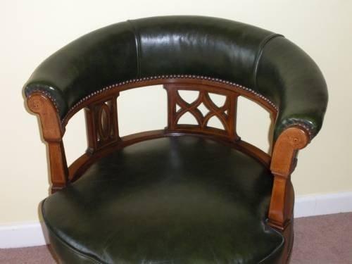 Leather Captains Chair 42834 Sellingantiques Co Uk