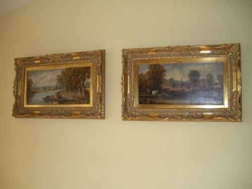 pair of oil painting by edward priestley