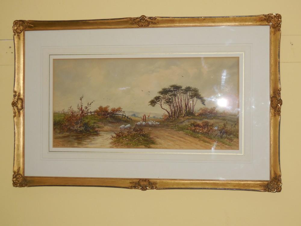pair victorian watercolours by joshua renshaw