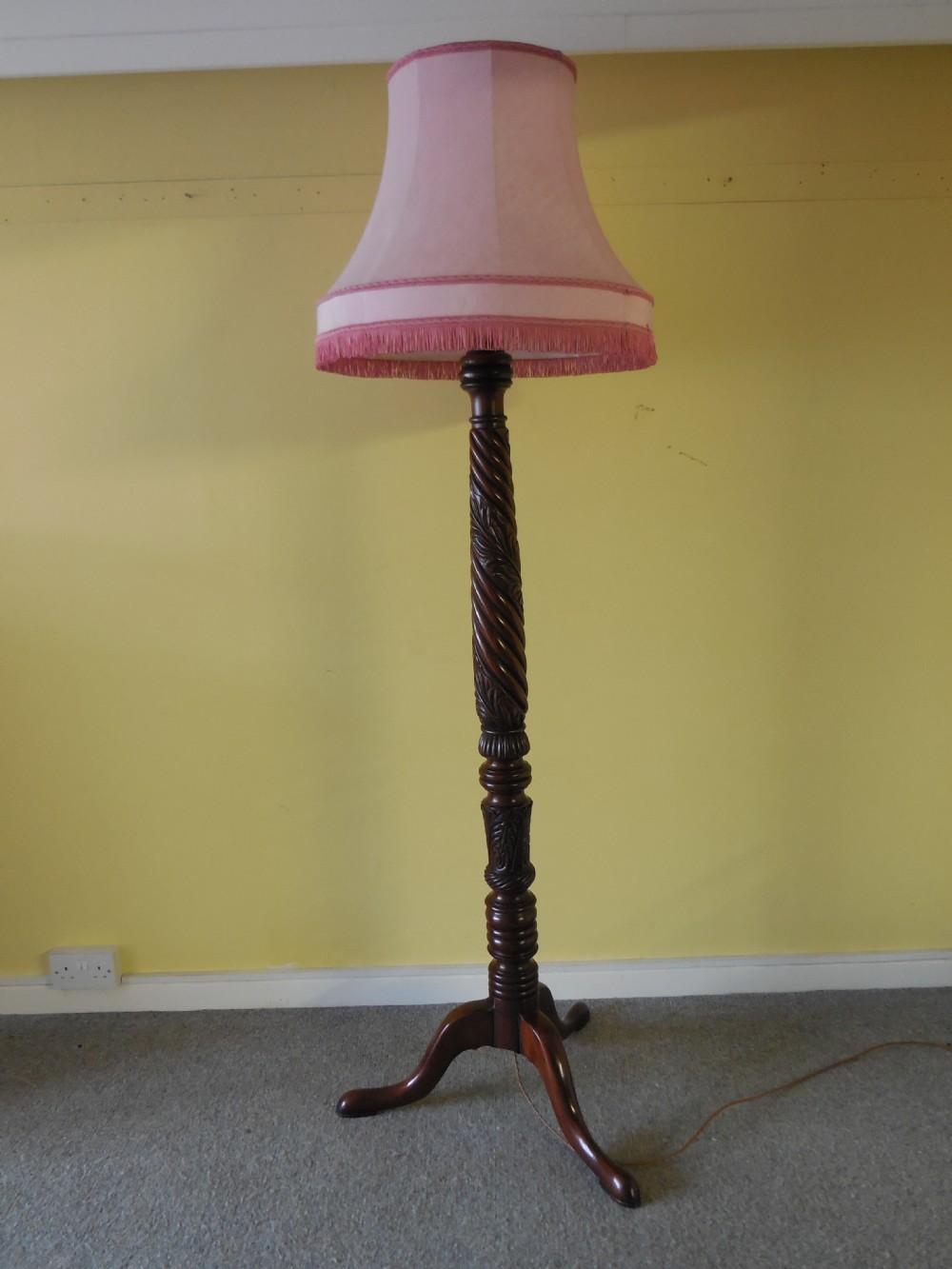 georgian mahogany standard lamp