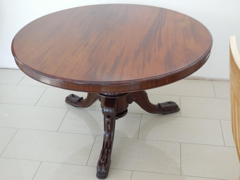 19th century circular solid mahogany flip top pedestal. Black Bedroom Furniture Sets. Home Design Ideas