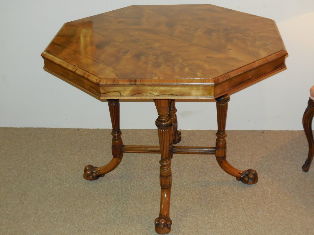 late victorian rosewood centre table