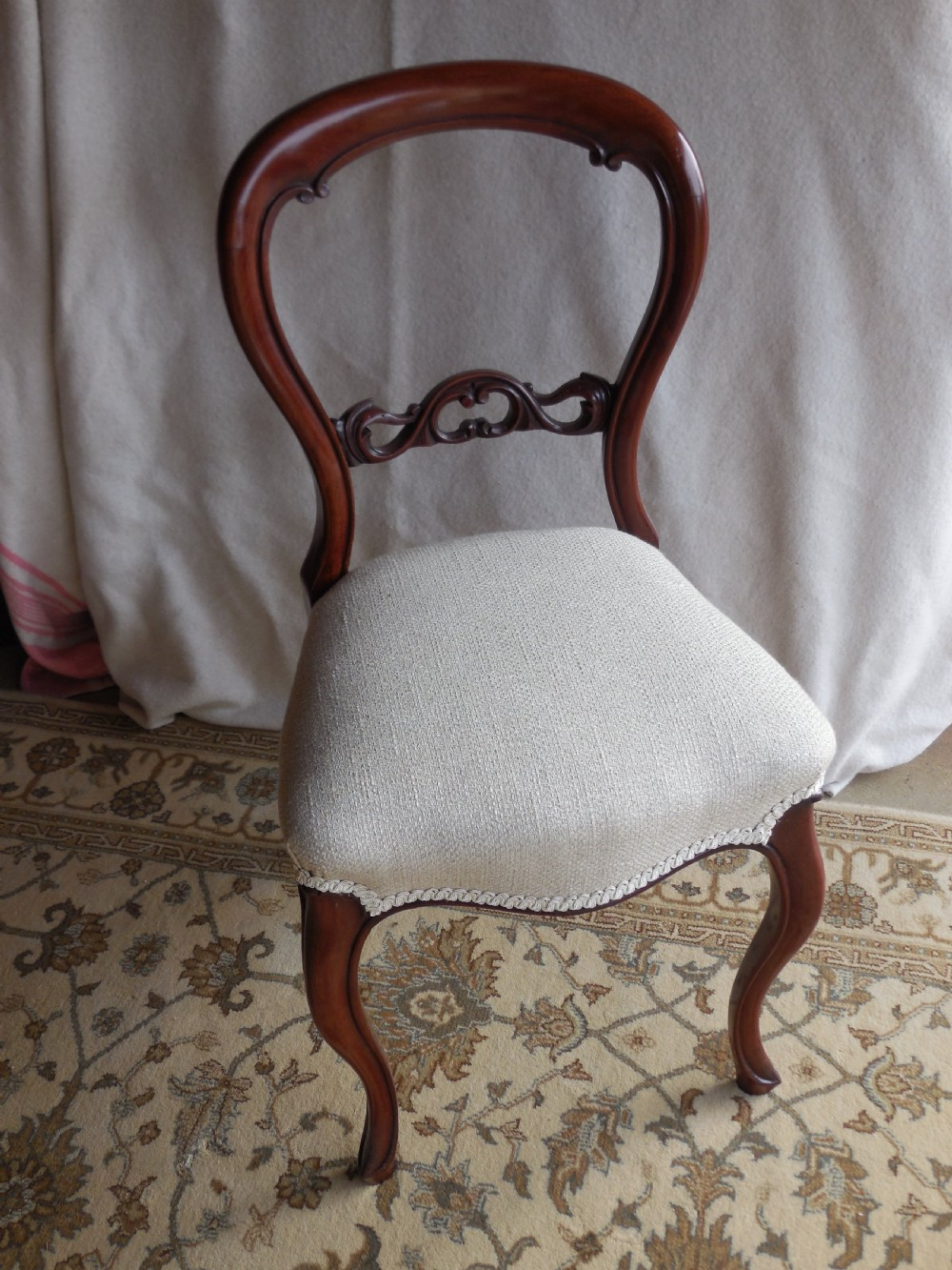 victorian mahogany balloon back side chair