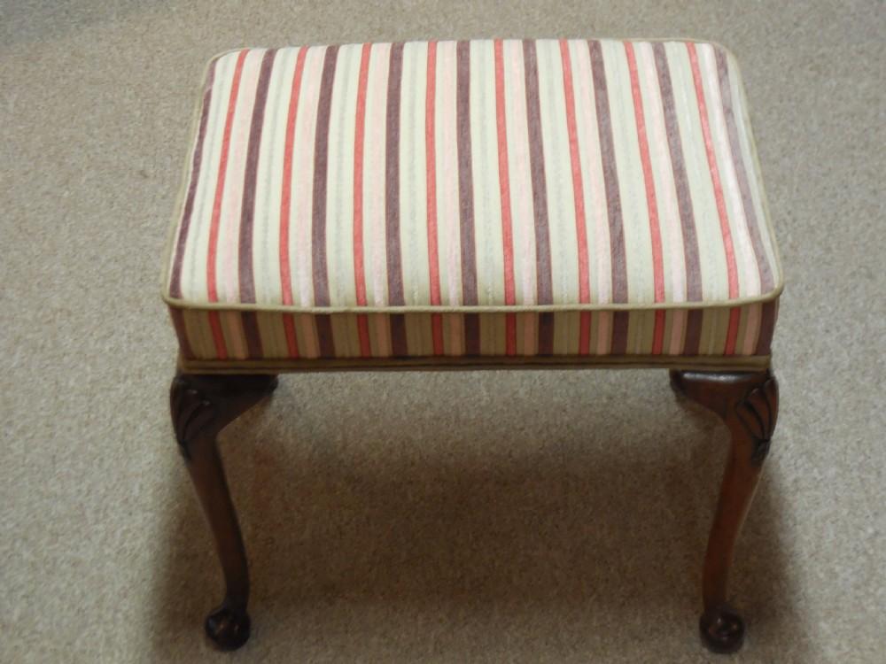 victorian walnut dressing stool