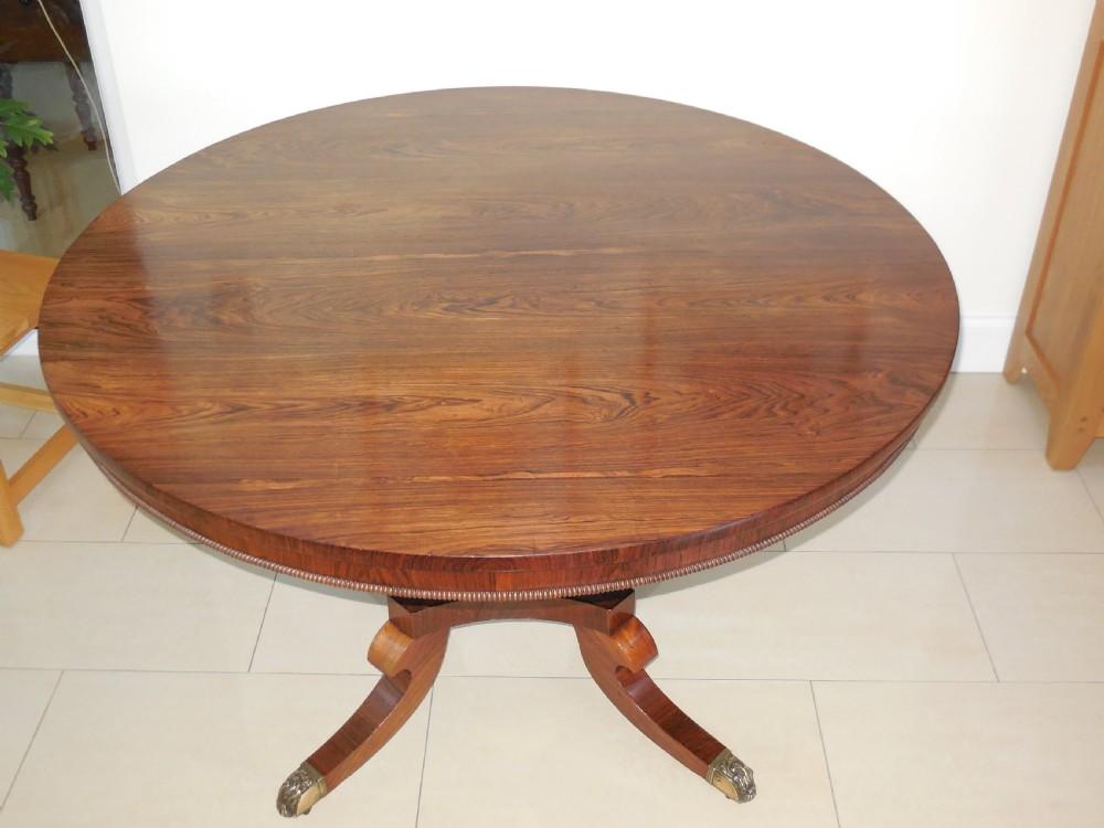 regency rosewood dining table