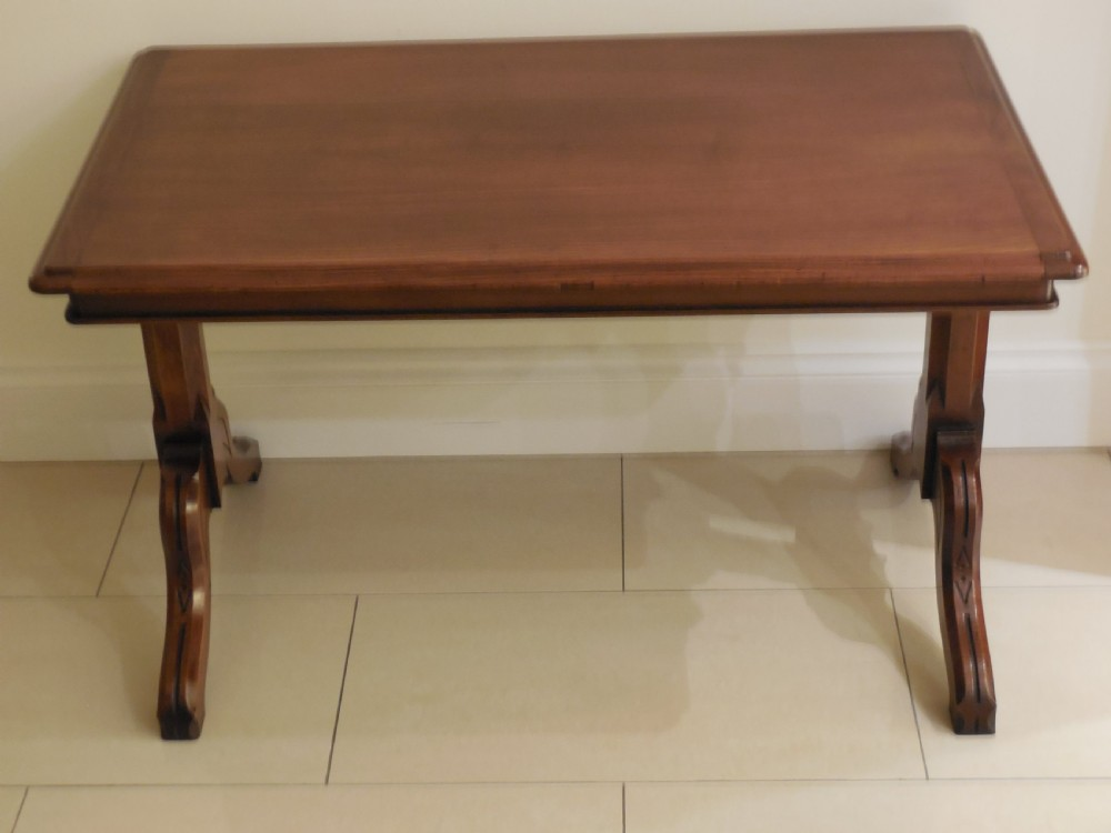 victorian solid walnut coffee table