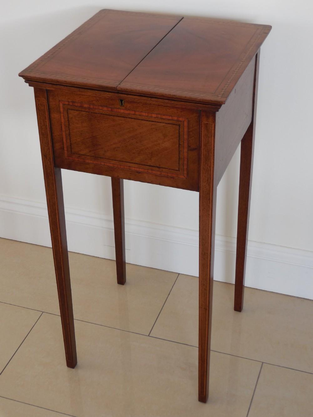 edwardian mahogany sewinglamp table