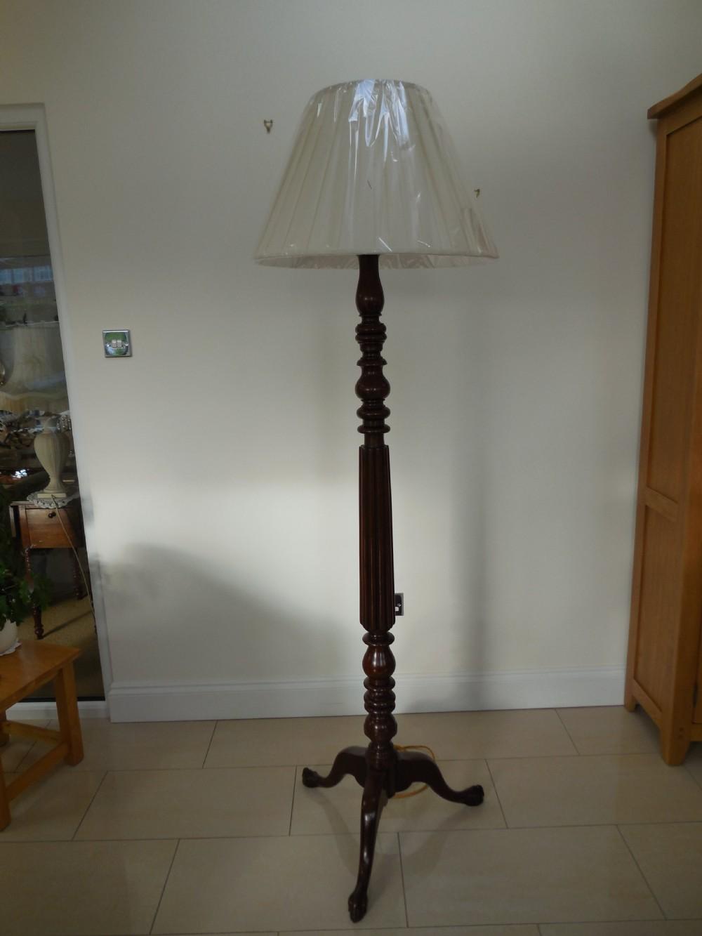 late 19th century mahogany standard lamp