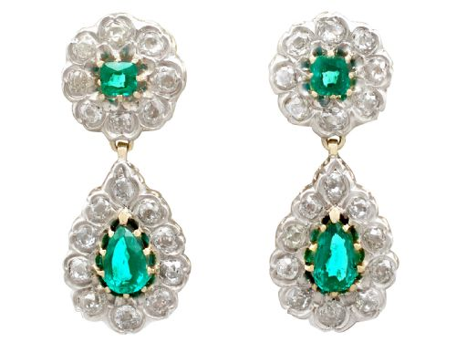 Antique emerald jewellery the uks largest antiques website ac silver aloadofball Image collections