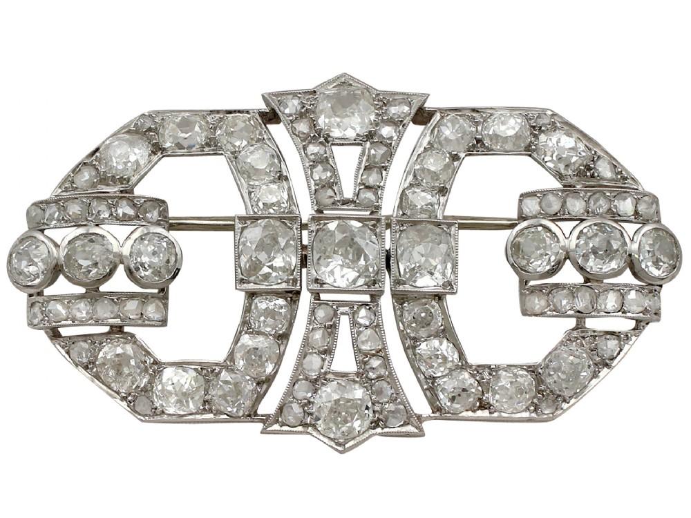 632ct diamond and platinum brooch art deco antique french circa 1930