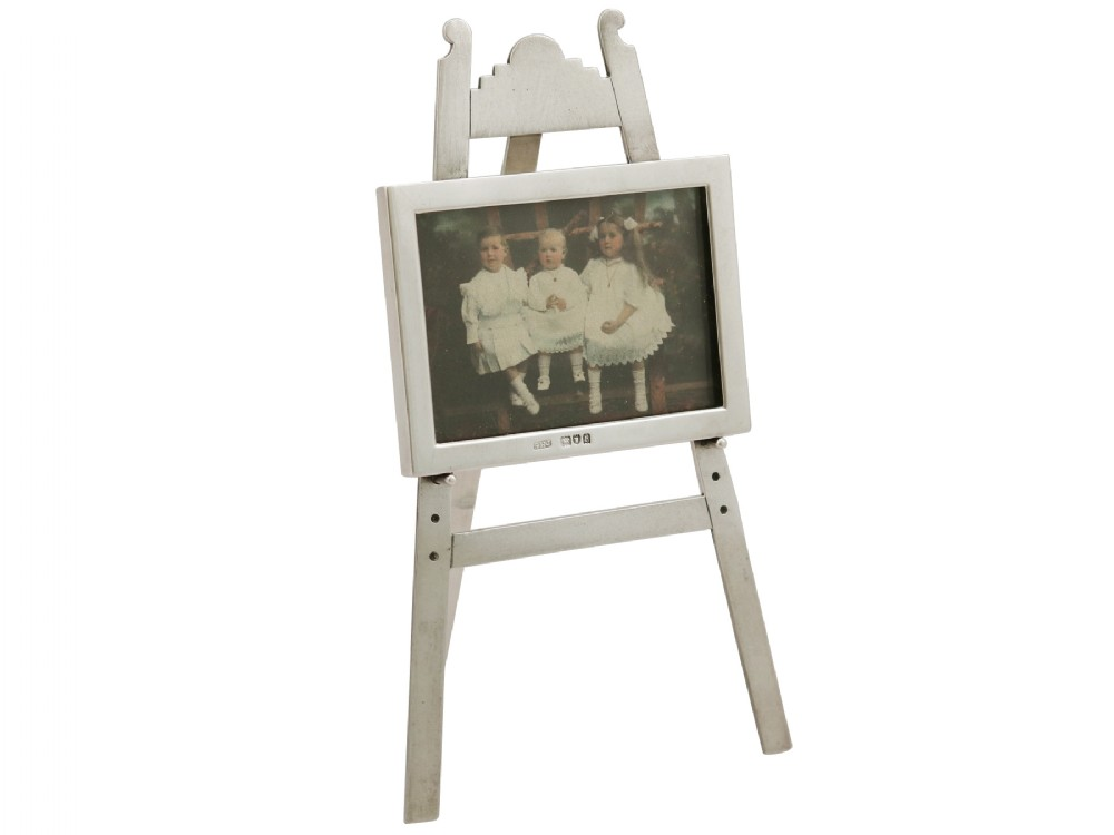 sterling silver photograph frame antique edwardian 1903