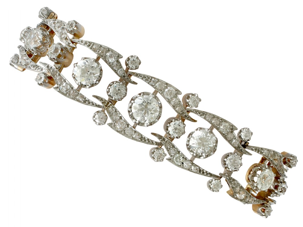 antique french 1735ct diamond and yellow gold bracelet