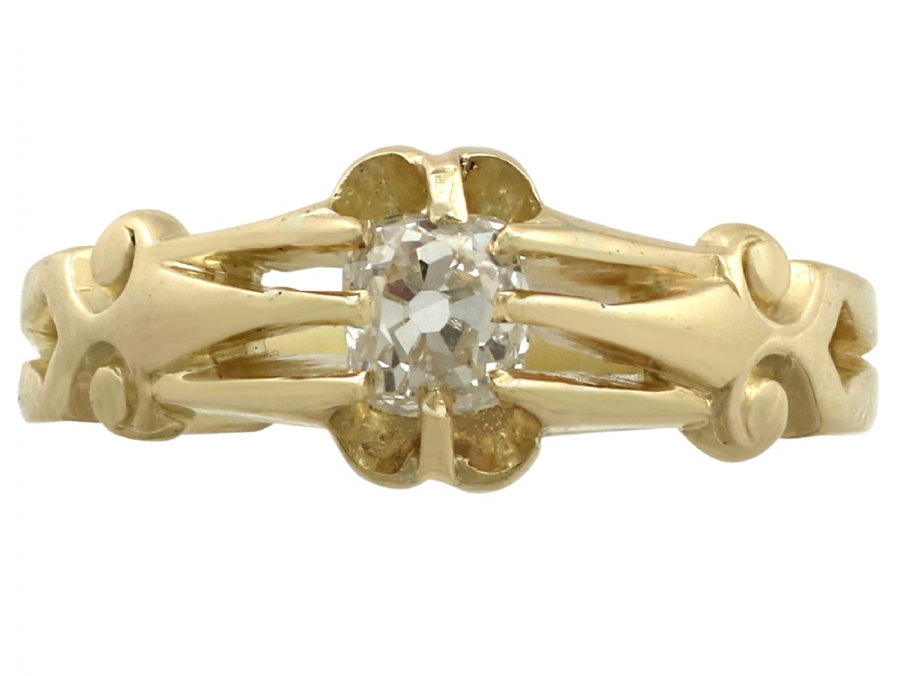054 ct diamond and 18 ct yellow gold solitaire ring antique