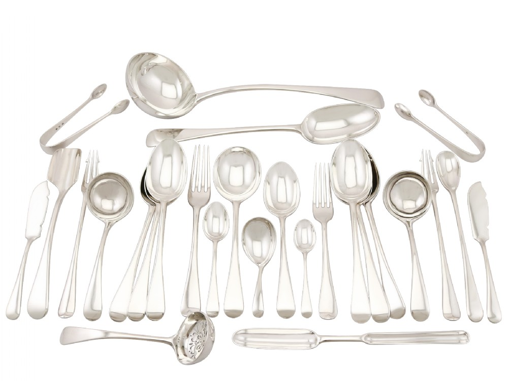 sterling silver canteen of cutlery antique george v 1930