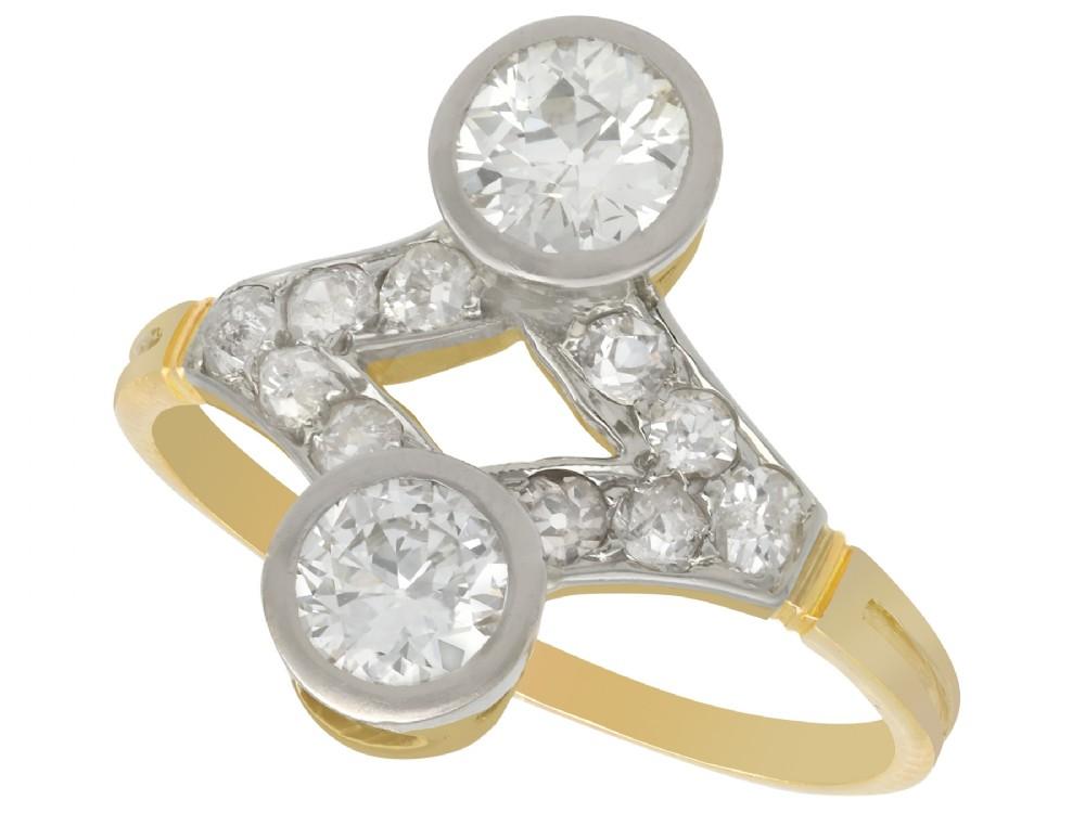 129ct diamond and 15ct yellow gold dress ring antique circa 1910