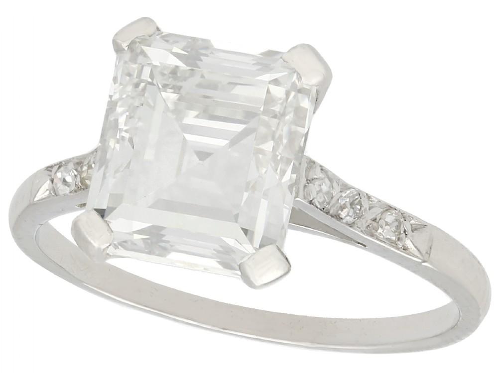 gia certified 284ct diamond and platinum solitaire ring antique circa 1930