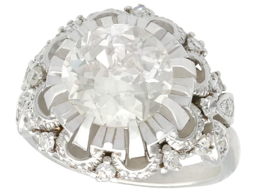 431ct diamond and platinum cluster ring antique circa 1930