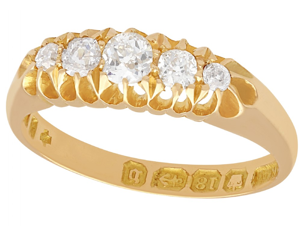 036 ct diamond and 18 ct yellow gold dress ring antique 1876