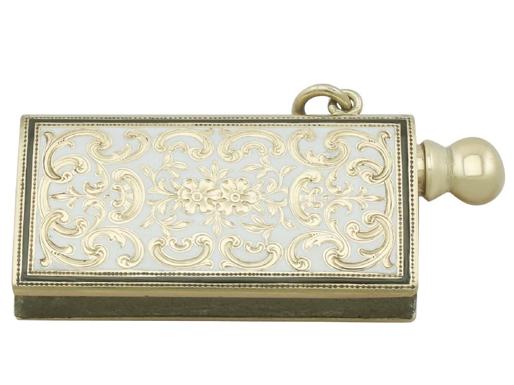 14ct yellow gold and enamel spark striker antique circa 1920