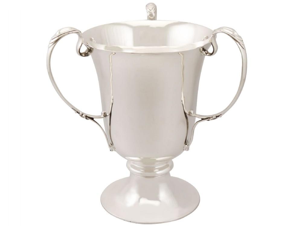 sterling silver presentation cup bottle holder art nouveau antique edwardian 1905