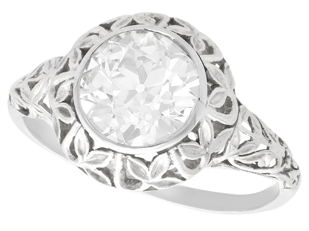 170 ct diamond and 18ct white gold solitaire ring antique circa 1910