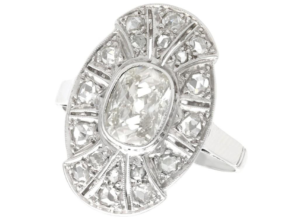 179 ct diamond and 15ct white gold dress ring antique circa 1930