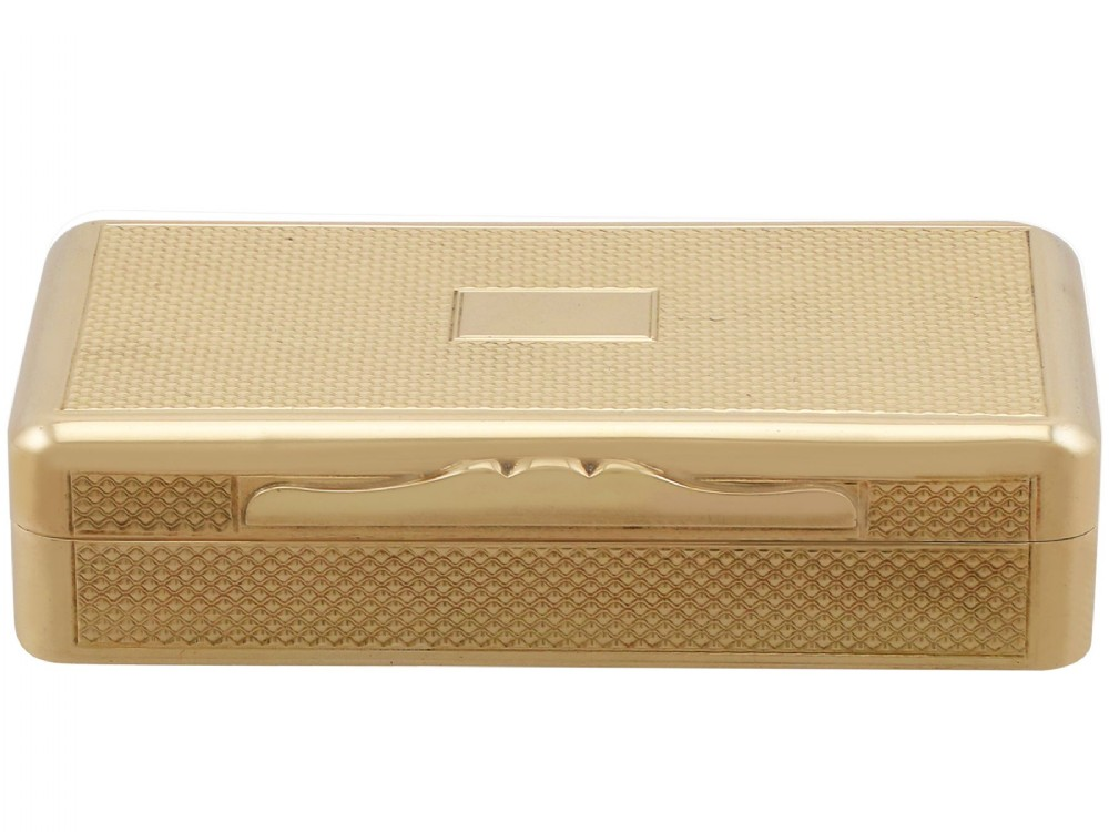 18 ct yellow gold snuff box antique george iv