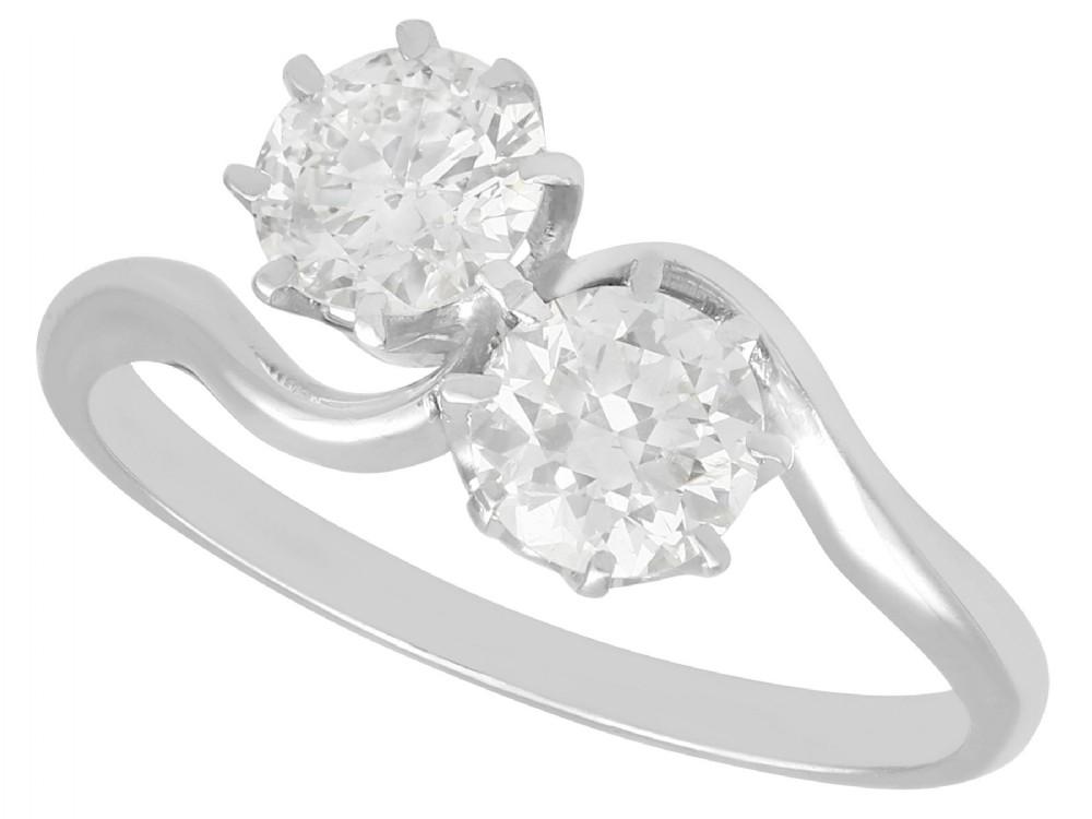 129ct diamond and platinum twist ring antique circa 1910