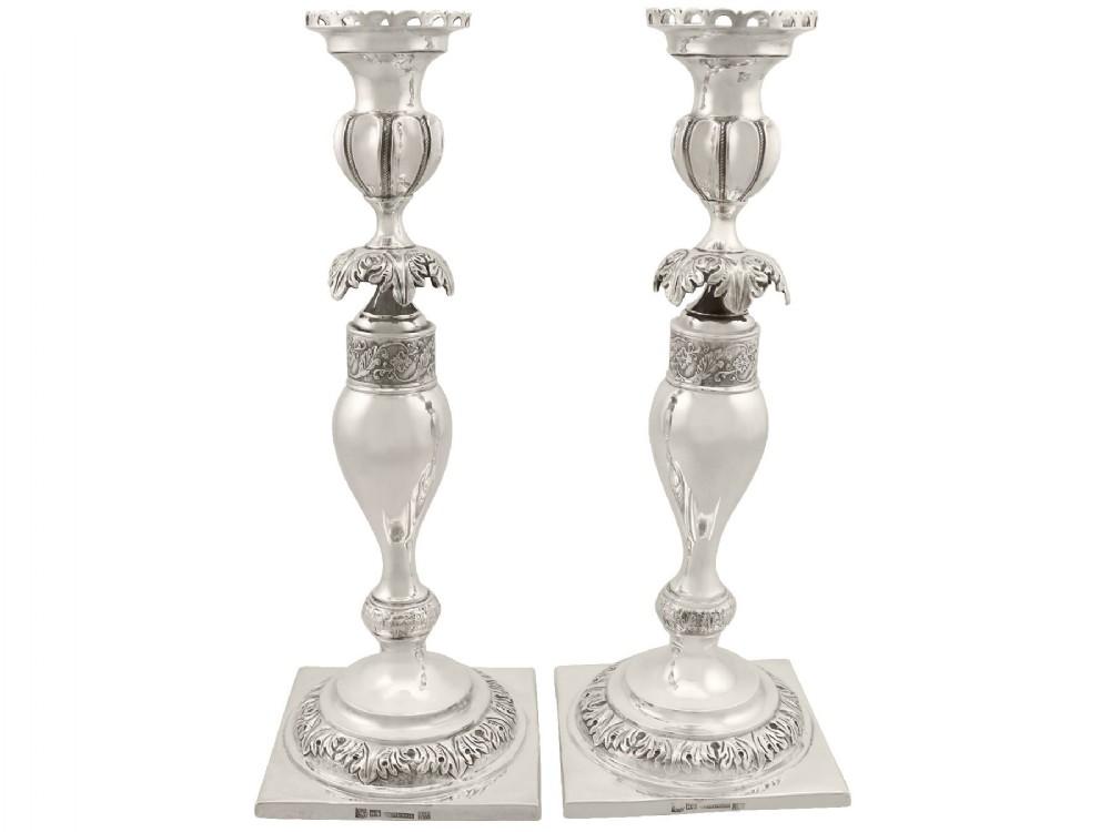 russian silver candlesticks antique circa 1860