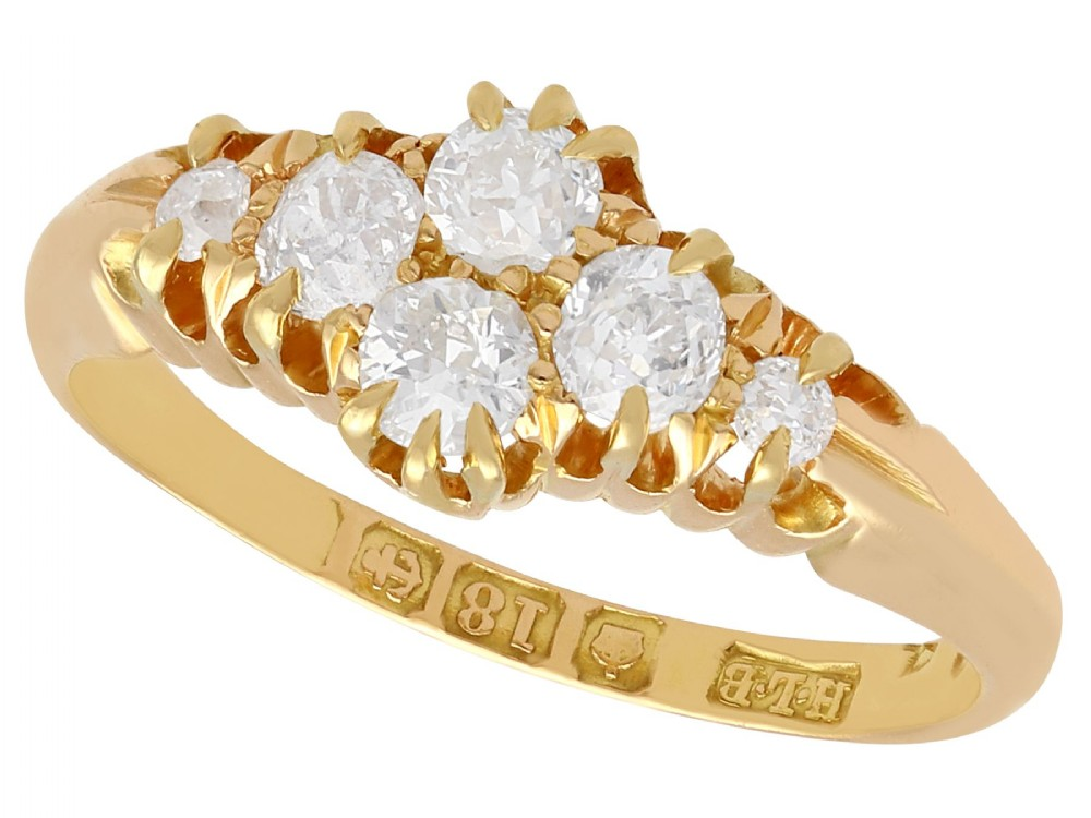 054 ct diamond and 18 ct yellow gold dress ring antique victorian