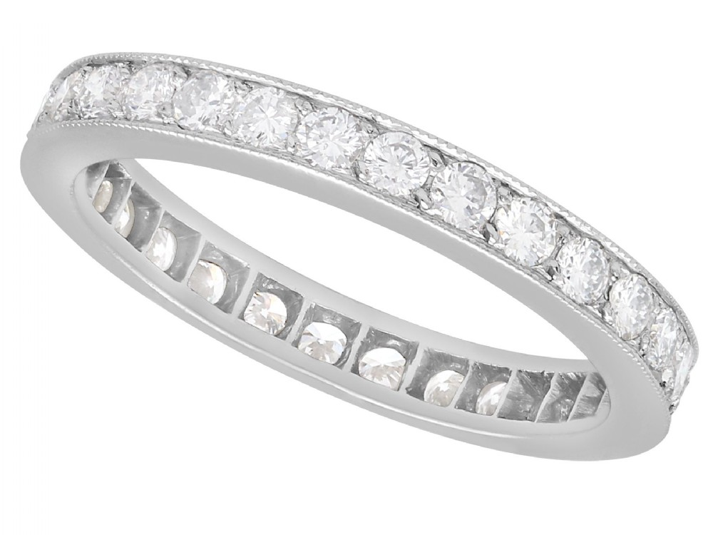102 ct diamond and 18 ct white gold full eternity ring vintage french circa 1940